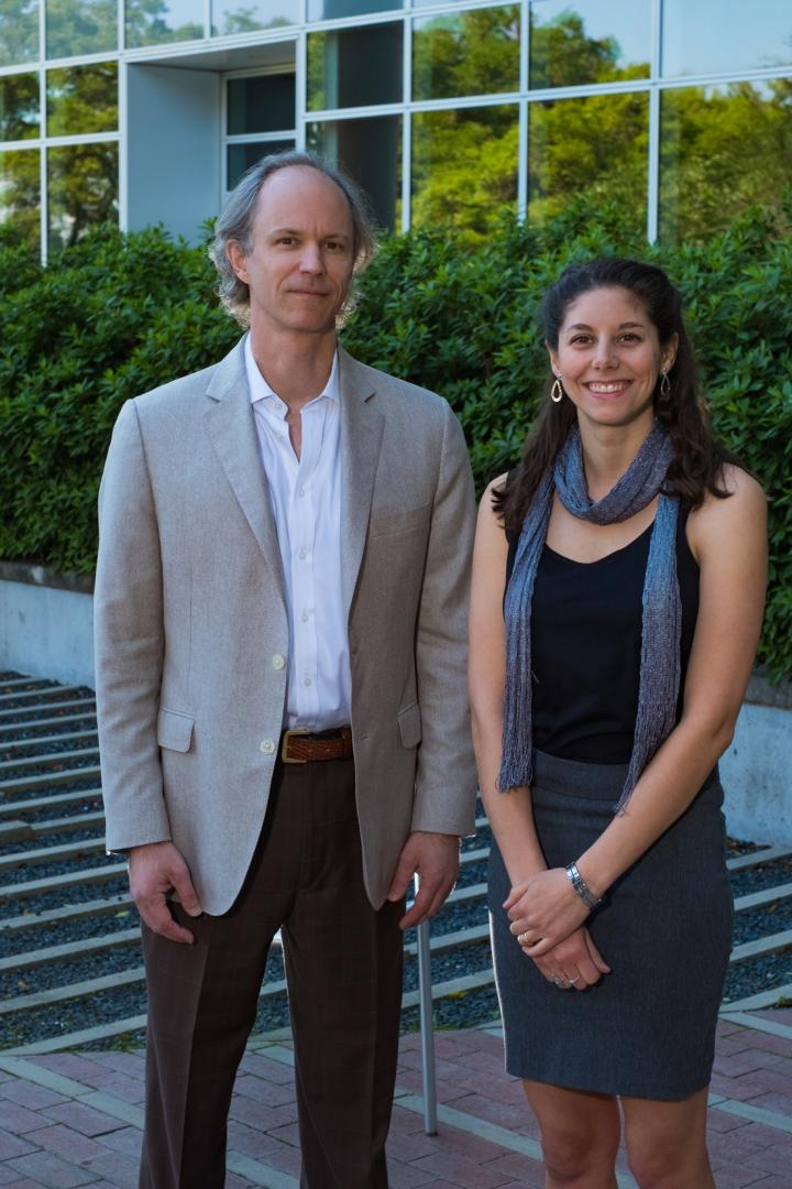Photo of Michael Deem, PhD, and Melia Bonomo, BS.