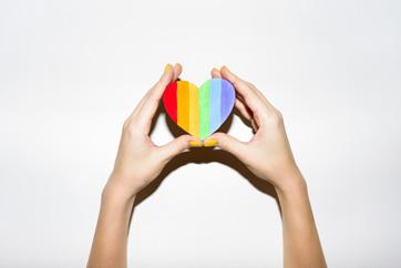 Rainbow Heart Google